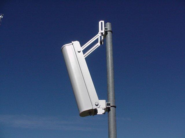 Antenne sectorielle en position