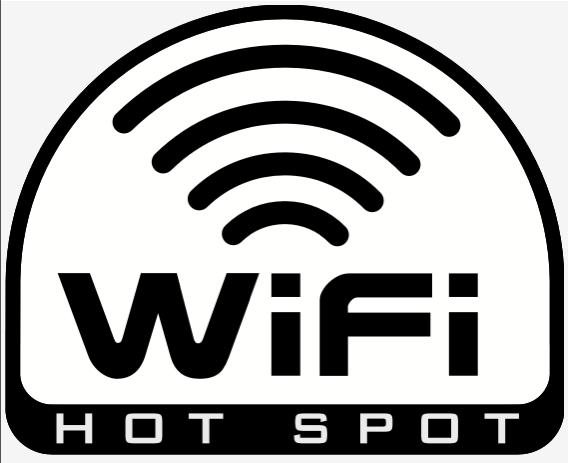 Autocollant WiFi Hotspot