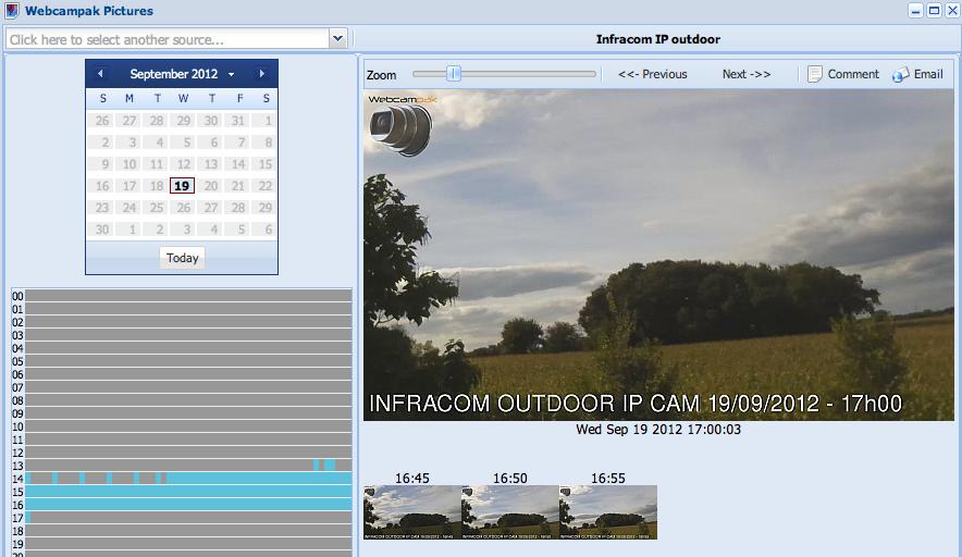 Webcampak Cloud : les images
