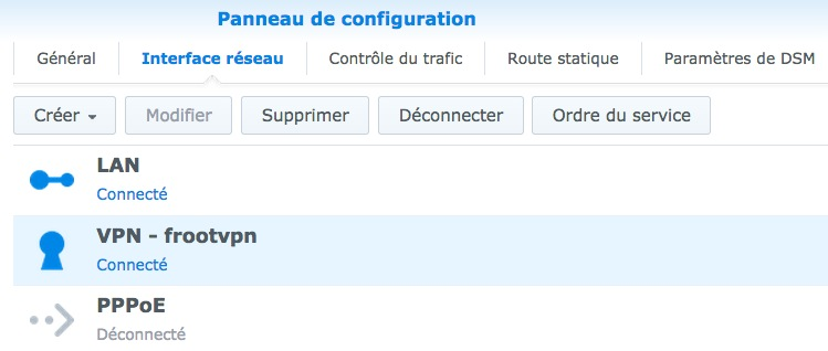froot vpn synology