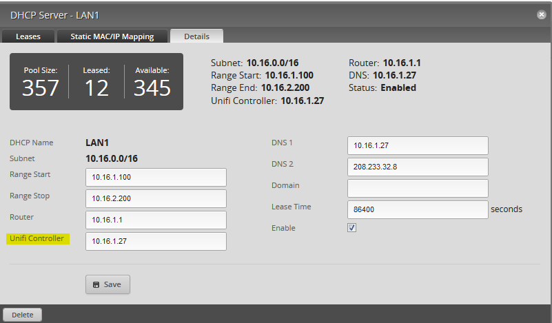 edge router lite dhcp