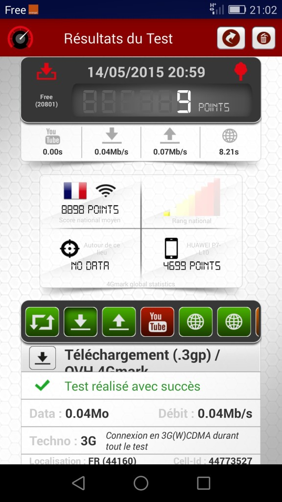 speed test freemobile