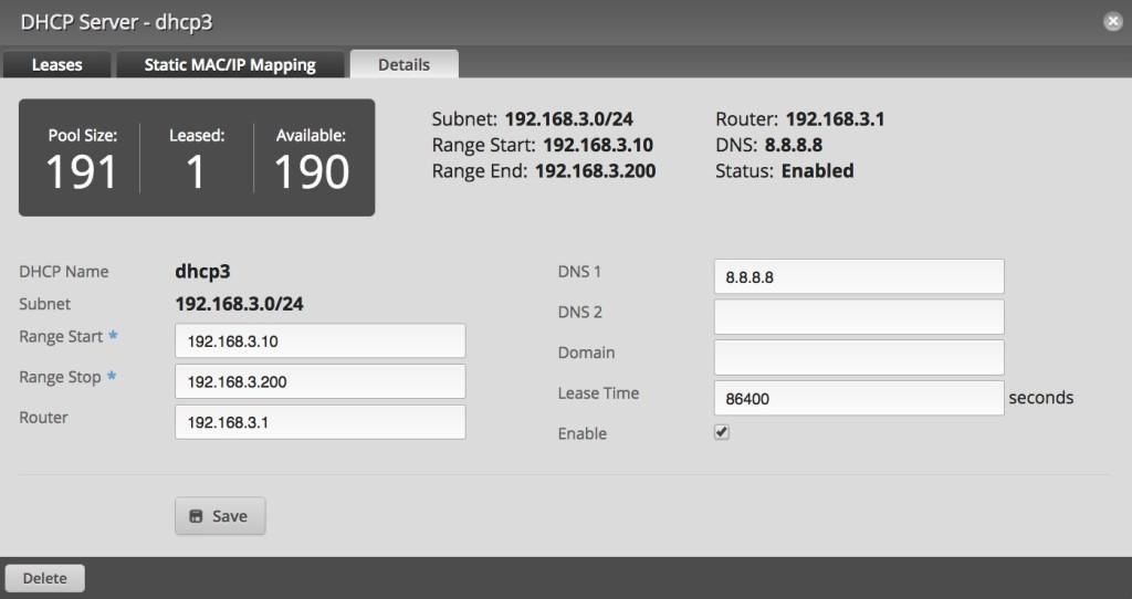 edge router dhcp server3