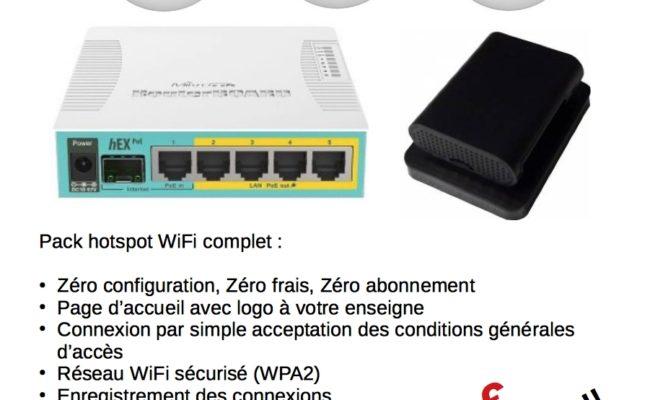 Wifipak Mini PoE : 599 € le hotspot complet