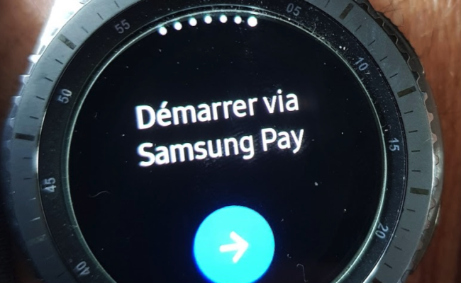 Samsung Gear S3 et Samsung Pay en France