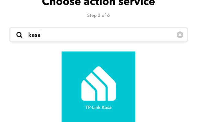 TP-Link Kasa et IFTTT